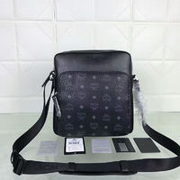 MCM Small Ottomar Visetos Messenger In Black