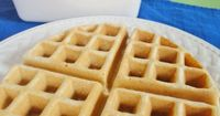 Making my own from scratch Belgian waffle mix has been one of those things I keep telling myself I need to do, but then the grocery store has a sale on some nam