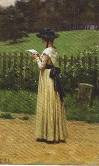 The Love Letter, oil on panel, Edmund Blair Leighton, British, 1853-1922.