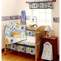 Bedtime Originals - Super Sports 3pc Crib Bedding Collection Value Bundle