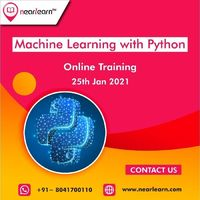 Nearlearn offers a Discount on the Machine Learning with Python Online Training course in Bangalore and starting a new weekday batch on 25th January 2021.
