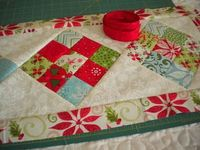 A Quilting Life: Scrappy 9-Patch Table Runner Tutorial
