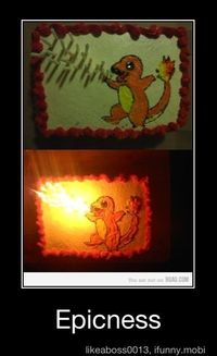 Way too cool. Though there are probably more candles on this cake than the age of the birthday child....