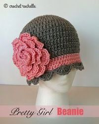 crochet flowers, crochet hats and shower curtains.