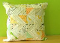 I'm liking low volume more and more. Zig zag pillow 1 by Malka Dubrawsky on Flickr.