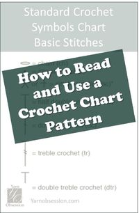 Learn the basics of how to read a crochet chart from this easy lesson part I in a series on Yarn Obsession to help you grow your crochet library.