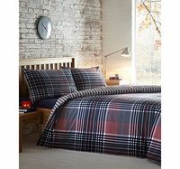 Bhs Harrogate Check Essentials bedding Set, red Classic and Stylish, bring a touch of heritage to your bedroom with the Harrogate printed check bedding set. Our essentials printed bedding range is now made using a new and improved quality 50/50 pol http:/...