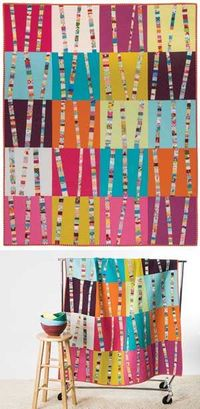 BRIGHT BIRCH TREES QUILT KIT