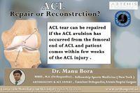 Dr. Manu Bora MBBS, M.S (orthopaedics) Fellowship Sports Medicine ( New York ) Arthroscopy & Acl Expert, Consultant Orthopaedics, Artemis Hospital Gurgaon, ACL surgery in Gurgaon https://www.orthosport.in/orthosport-gurgaon/