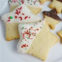 Shortbread Cookies II - roll dough into log and store in fridge before cutting and baking
