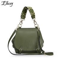 Genuine Leather Flap Bag Fashion Rivet Handbag High Quality Sac de marque Crossbody Bag R1059.20