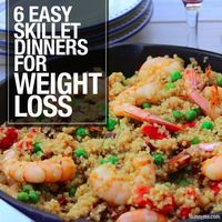 Skillet dinners are easy and that is necessary for weeknight meals! Try these 6 Easy Skillet Dinners for Weight Loss. #weightloss #easymeals #healthy #skilletdinners