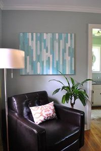 How To Make A Simple Geometric Canvas Painting   Young House Love