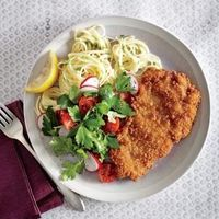 You'll be amazed how crisp these schnitzel-inspired cutlets get with only 6 minutes of cooking.