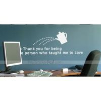 Description: Size : as show Category : Quotes Wall Sticker Material : Vinly Wall Sticker Room :bedroom, living room Color:Pearl grey, Olive, Lime Includes:words, kettle