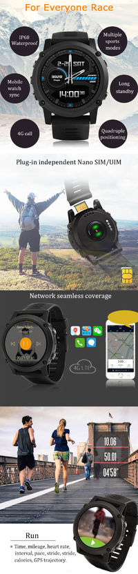 FERACE HY-WS01 512MB+4G GPS WIFI Watch Phone 1.39'' Screen IP68 Waterproof Smart Watch Sports Tracker Heart Rate Monitor Fitness Bracelet