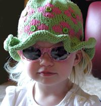 Fun, Colorful Easy Knitting Pattern for Child's Ruffled Hat