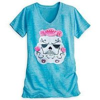 Disney Stormtrooper Tee for Women - Star Wars | Disney StoreStormtrooper Tee for Women - Star Wars - Imperial Stormtroopers celebrate Dia De Los Muertos on this galactic design mashup tee that will light up your life for the fall season and beyond.