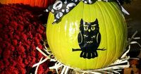 Spray paint and mod podge a pumpkin. You can use it for Fall and Halloween!