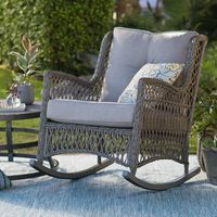 Belham Living Bristol Outdoor Rocking Chair with Cushions   from hayneedle.com