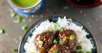 The best asian-style meatballs ever! These teriyaki meatballs are made with lean meat to keep them healthy and lower in calories and are smothered in the most d