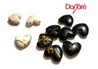Pack of 40 Gold Design Acrylic Heart Beads for Valentine's Day Craft. Different Colours Available £8.19