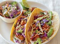 Organic Authority.com: Fish Tacos Recipe With Broccoli Slaw and Lime Cream Sauce