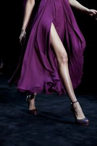 shades of purple, platform shoes and purple.