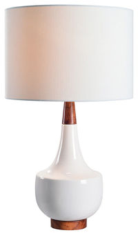 "Kenroy Home 33181 Tessa Single Light 26"" Tall Vase Table Lamp with a Drum Shade $98"