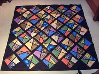 Stained glass quilt tutorial