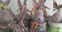 how to make burlap easter bunnies #sewing,#easter