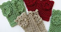 Ravelry: Crochet Fingerless Gloves With Flower pattern by Lyubava Crochet