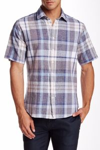 Toscano Grain Mens XLarge XL Plaid Regular Fit Button Down Shirt $29.00